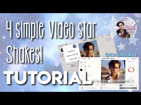 4 SIMPLE VIDEO STAR SHAKES|| Tutorial