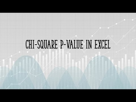 How To Calculate Chi Square Value In Excel