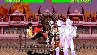 Mortal Kombat 2 arcade Liu Kang Bicycle Kick Only Gameplay Playthrough
