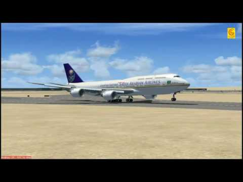 FSX Saudia 747-8i Riyadh To New Delhi