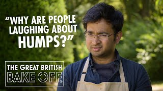 Paul Hollywood gets the hump with Rahul!  The Great British Bake Off