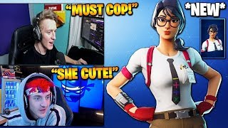 STREAMERS REACT TO *NEW* MAVEN SKIN AND PAPER AIRPLANE GLIDER! (Fortnite Stream Highlights)