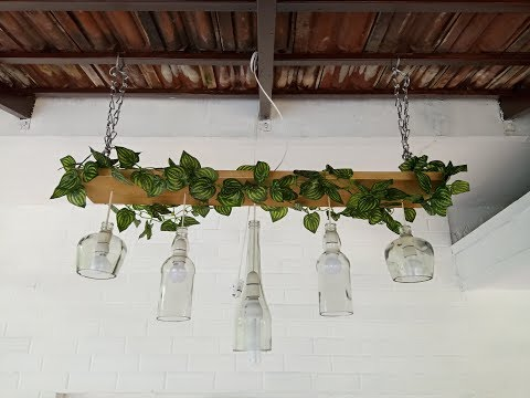 How to make a bottle Lamp Chandelier?