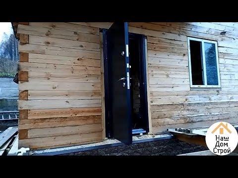 Как поставить железную дверь в деревянном доме
