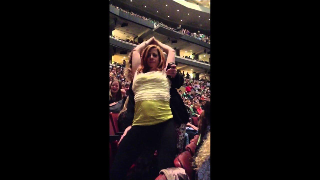 Drunk girl at concert
