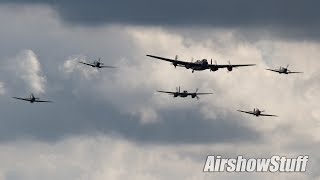 Merlin Flight (Mosquito, Lancaster, Spitfire, and Hurricane Formation) - Hamilton Airshow 2013