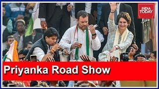 Congress Unveils Its Brahmastra In UP; Priyanka Gandhi's Mega Road Show