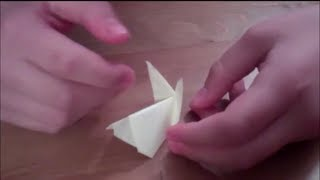 How To Make An Easy Origami Bunny - Using A Sticky Note - Perfect For When You're Bored At Work!
