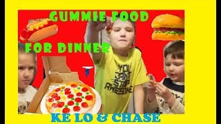 Gummy food dinner review with Ke Lo and Chase