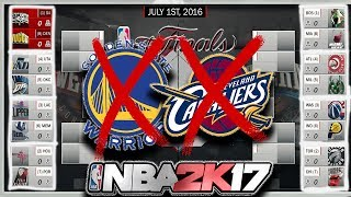 Nba playoffs w/out cavs and warriors simulated in nba2k17!