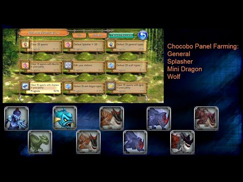 [DFFOO GL] Chocobo Panel Farming: General, Splasher, Mini Dragon, Wolf