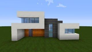 V2movie Minecraft Modernes Haus Mit Wasserdach Bauen 12x12