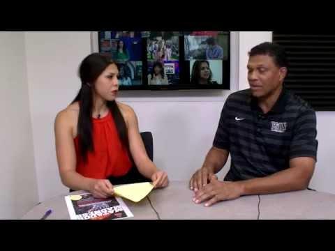 Jordan Sauceda - With CSUN Coach Reggie Theus