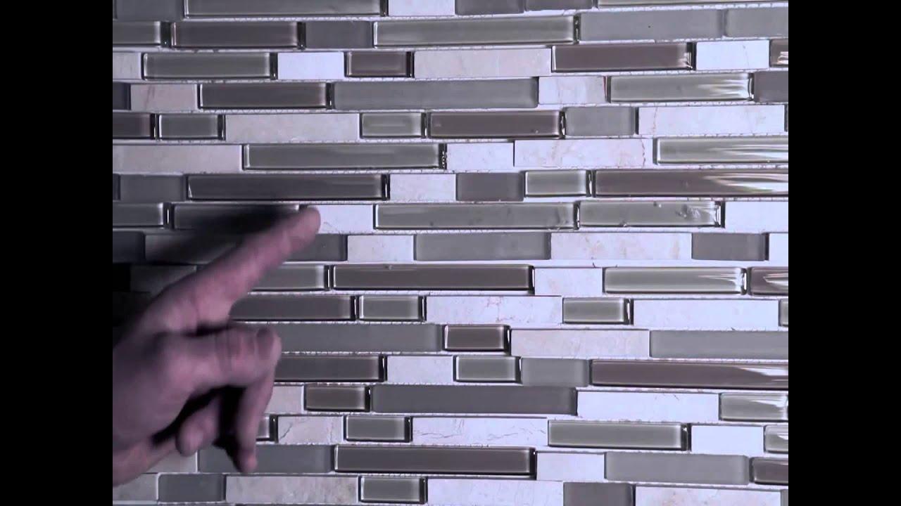 Installing Stone Mosaic Wall Tile - glass & stone mosiac ...