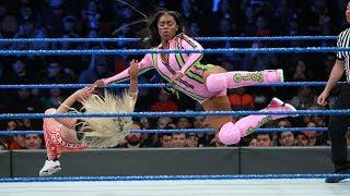 HINDI - Charlotte Flair, Becky Lynch & Naomi vs. The Riott Squad: SmackDown LIVE, 16 January, 2018