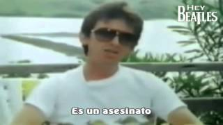 George Harrison habla sobre la muerte de John Lennon 1982 (Subtitulado)