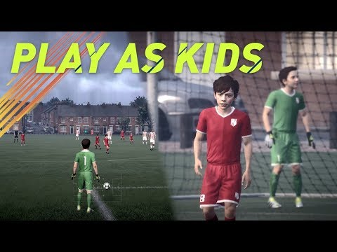 PLAY AS KIDS ON FIFA!! NEW THE JOURNEY GAMEPLAY!!