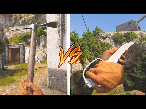 Download Youtube: TRENCH KNIFE vs ICE PICK! WHICH DLC MELEE WEAPON is BETTER?