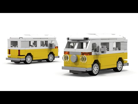 LEGO Volkswagen Transporter (Type 2) Instructions (MINI MOC)