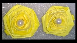 Quilling paper earrings making rose flower design earrings making methods