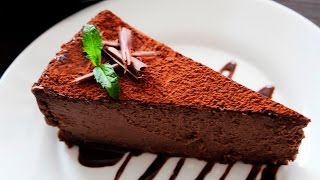 chocolate cheesecake recipe ♥ philadelphia double chocolate cheesecake ♥ tasty cooking