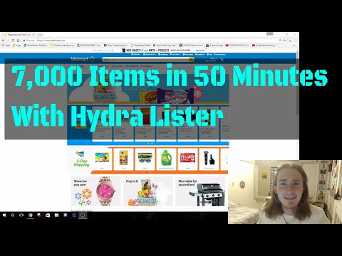 Queuing 7,000 eBay listings in 50 minutes using Hydra Lister (Sourced from Walmart)