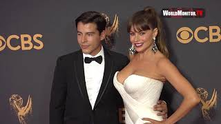 sofia vergara and son manolo gonzalez at 2017 emmy awards