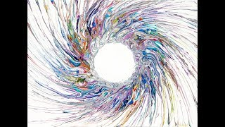 Fluid Acrylics Dynamic Circle With Tendrils # 2477-4.09.18
