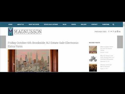 Magnusson Estate Sale Entry Form Tutorial
