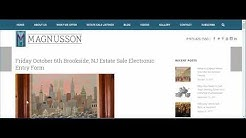 Magnusson Estate Sale Entry Form Tutorial