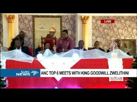 ANC NEC visit Zulu King Goodwill Zwelithini, KZN: 07 January 2017