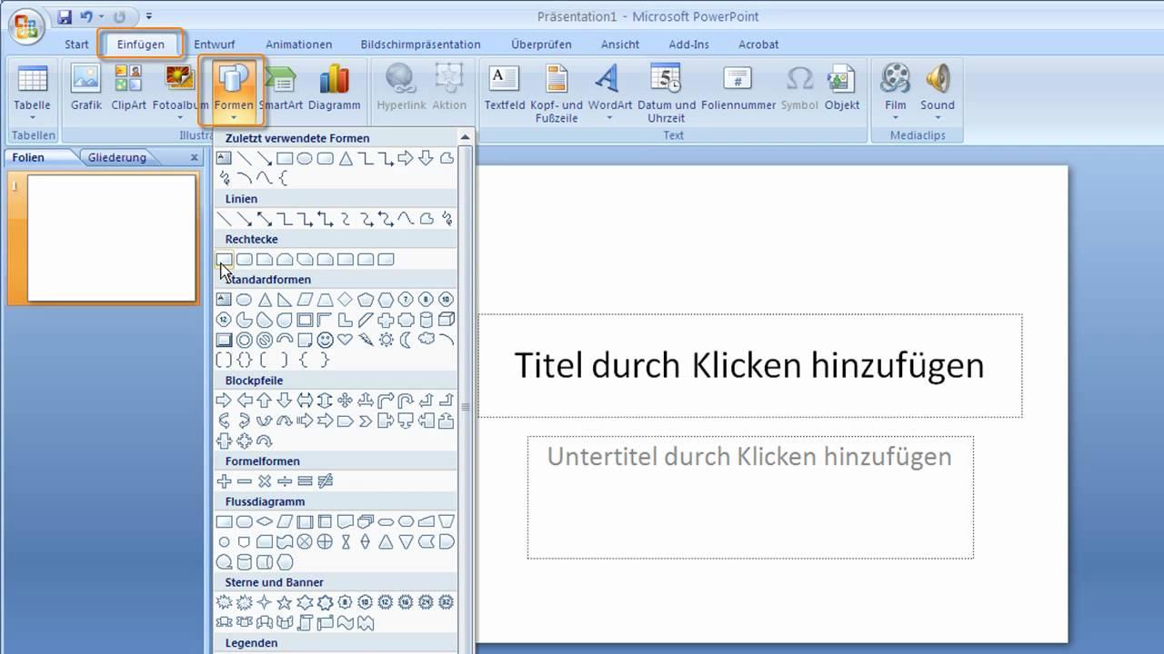 Powerpoint 2007 Die Form Für Zeichenobjekte Nachträglich ändern