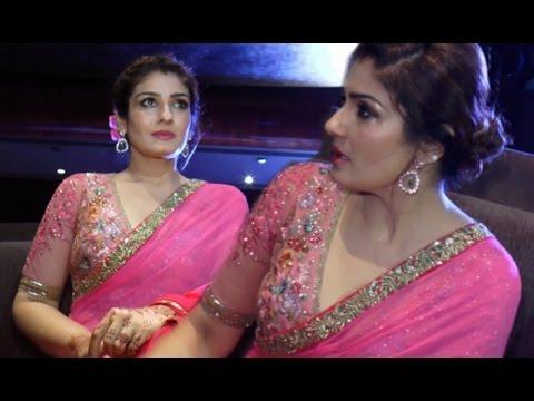 Hot Raveena Tandon Flawless In Pink Saree
