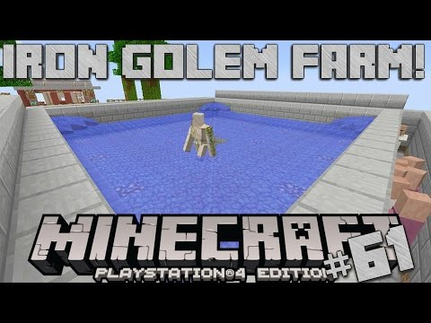 Minecraft PS4 Survival #61 | Iron Golem Farm!
