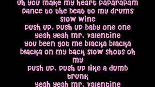 Christina Millian - Mr.Valentine Lyrics on Screen (New Song 2012)