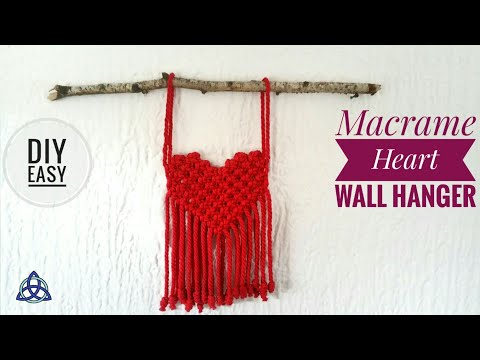Macrame Wall Hanging Heart ♥ DIY ♥