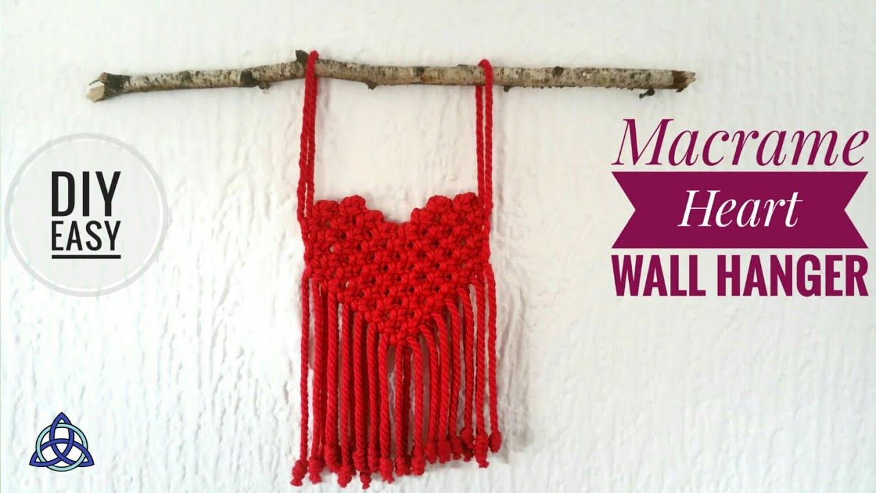 Macrame Wall Hanging Heart Diy Youtube