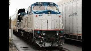 Amtrak's Auto Train Loading + Unloading Operations! Ft. Amtrak B32-8WHs!