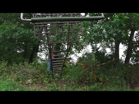 How To Hang A Double Ladder Treestand With One Person!