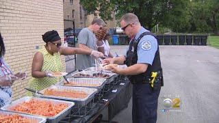 Englewood School Holds Thank You BBQ For Police Officers