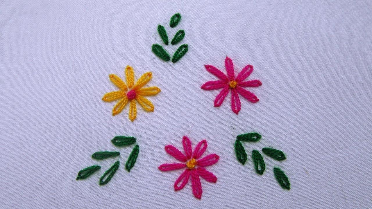 Lazy daisy stitch how to sew flower