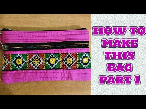 3f656676ae HOW TO MAKE LADIES PURSE WITH CLOTHS-MAGICAL HANDS HINDI SEWING TUTORIAL -  YouTube