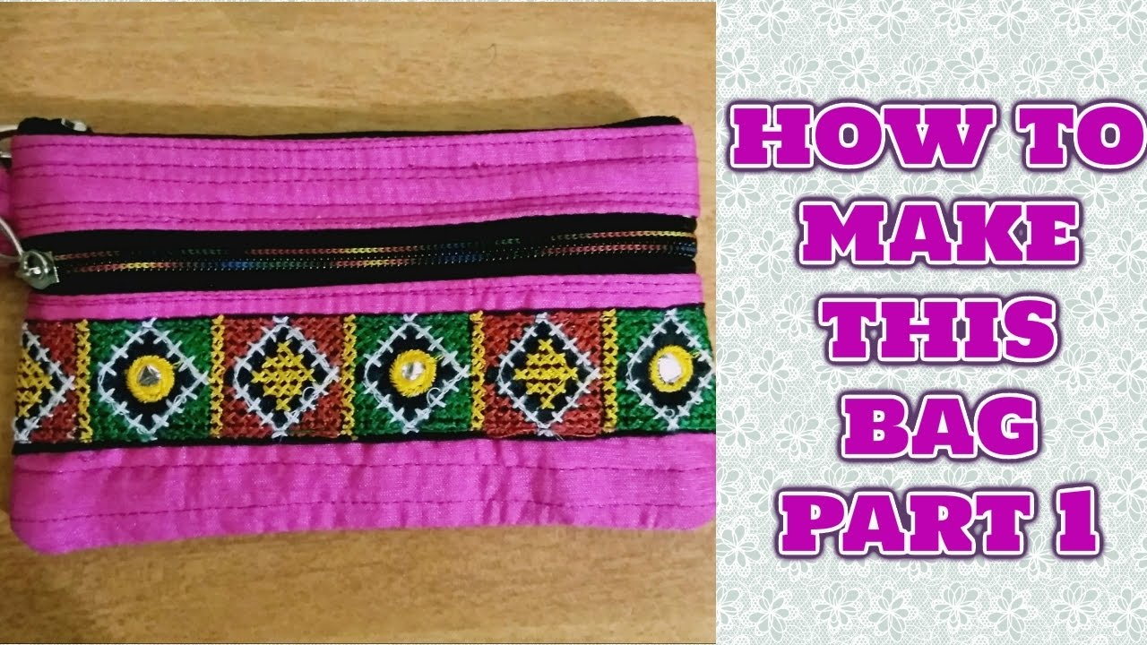 c3c799d419 HOW TO MAKE LADIES PURSE WITH CLOTHS-MAGICAL HANDS HINDI SEWING ...