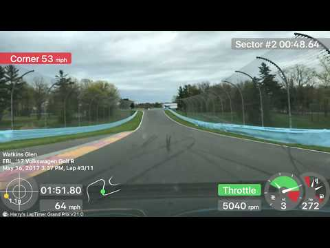 2017 Golf R at Watkins Glen with Chin - Tuesday 4th Session - 05/16/2017