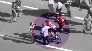 La Vuelta 2017 - Vélo de Chris Froome - Moteur ou route en pente ??