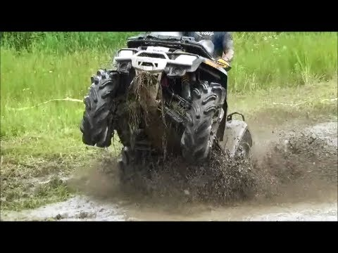 Can Am Outlander 800 Vs Other Bikes Mudding In Mud Pit