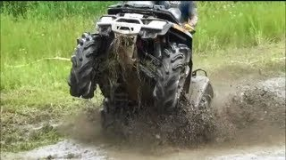 CAN AM OUTLANDER 800 vs OTHER BIKES MUDDING IN MUD PIT! ATV RODEO