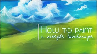 How to paint a simple landscape background in SAI