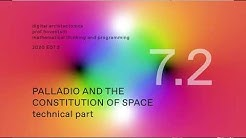 MTP20 E07.2 PALLADIO AND THE CONSTITUTION OF SPACE - technical part 2