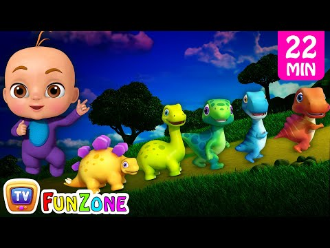 Five Little Dinos & Many More 3D Nursery Rhymes & Songs for Kids